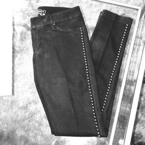 Studded Black Jeggings